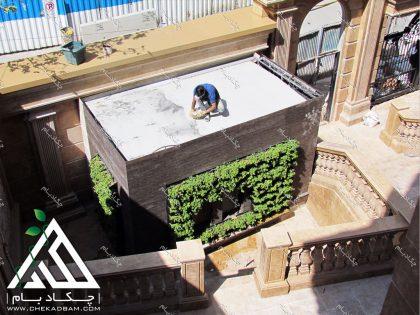 گرین وال دیوار سبز green wall تهران فرمانیه چوب پلاست کاور پست برق پوشش