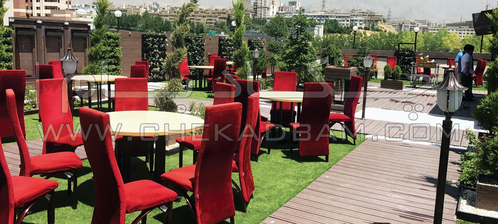 روف گاردن در امیر آباد تهران خیابان کارگر رستوران و فضای سبز روی پشت بام