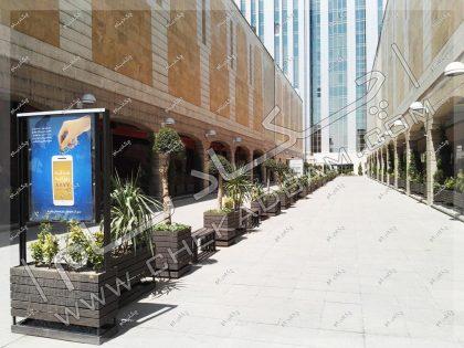 طراحی فضای سبز خطی محوطه آرایی کمیته امداد امام خمینی تهران