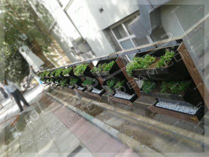 فلاورباکس های نرده ای گلدان نرده ای بیمارستان روزبه تهران کارگر جنوبی محوطه سازی حیاط
