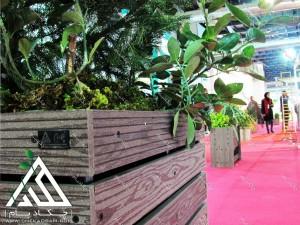 نمایشگاه محیط زیست 1395 طراحی غرفه های سبز فلاورباکس های داخلی چکادبام