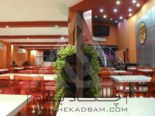 پردیس ایستاده پارتیشن سبز رستوران هیوا تجریش