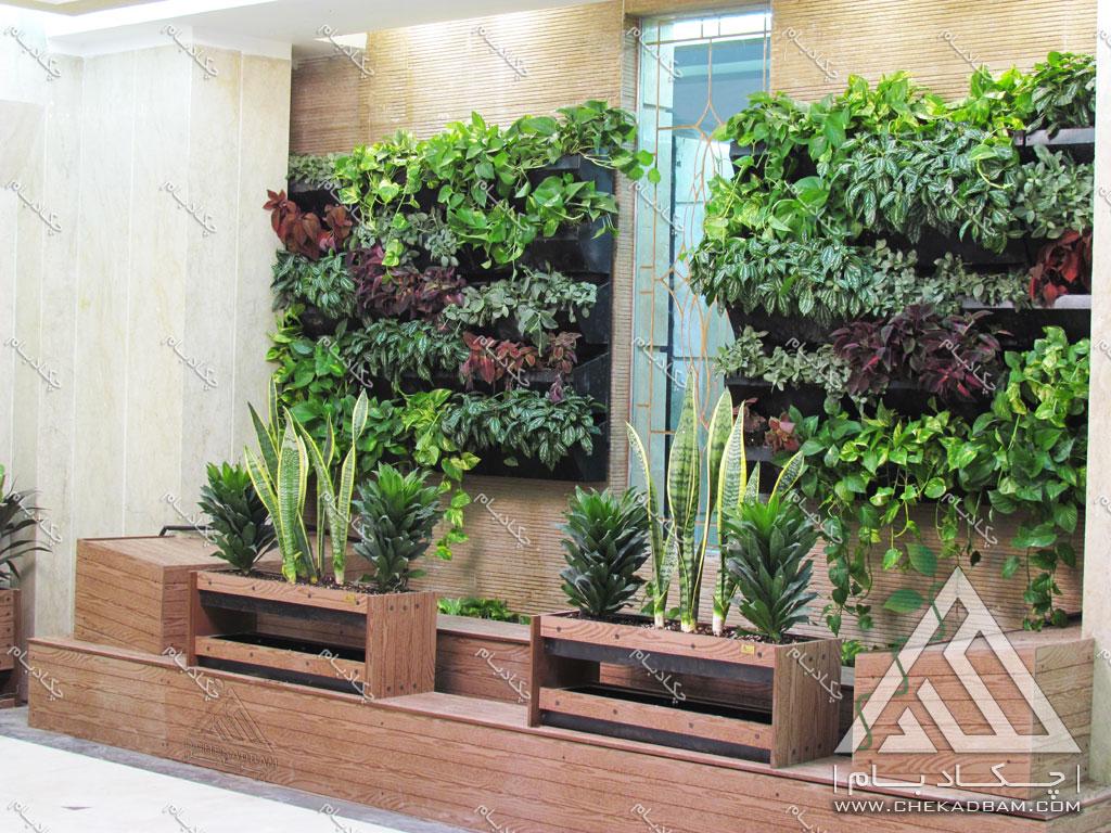دیوار سبز داخلی فلاورباکس تهران قیطریه interior green wall flowerbox lobby tehran gheytariyeh