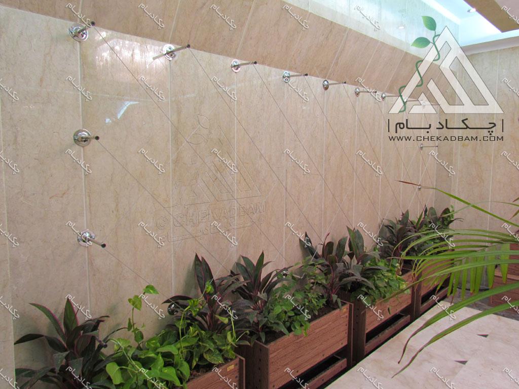 دیوار سبز داخلی تهران قیطریه interior green wall lobby tehran gheytariyeh