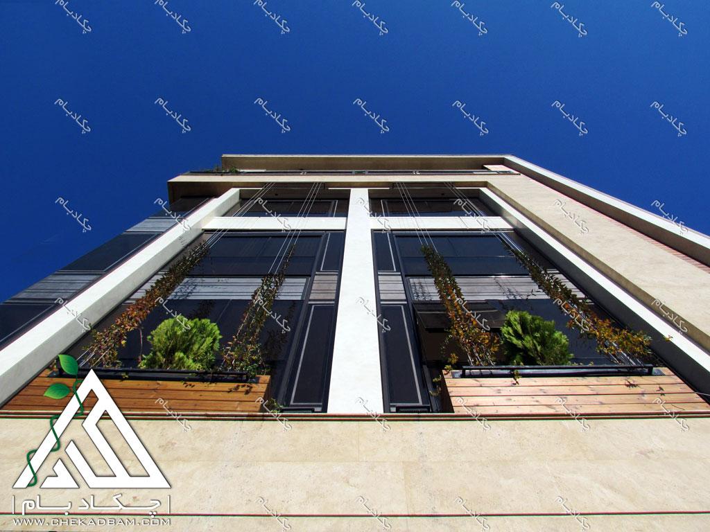 طراحی نمای سبز ساختمان دیوار سبز گرین وال تهران green wall design