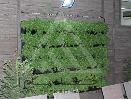 اجرای انواع دیوار سبز مدولار ترموود چوب پلاست