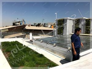 دیوار سبز مدولار روی پشت بام شهرک غرب تهران
