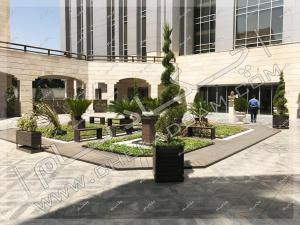 طراحی فضای سبز و باغچه پرتابل کمیته امداد امام خمینی تهران