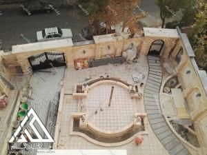 پروژه محوطه سازی حیاط مسکونی شهرک غرب زرافشان قبل از اجرای پروژه