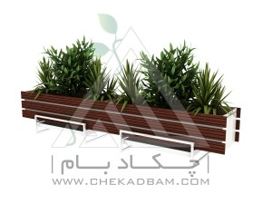 فلاورباکس چوب پلاست طرح پایه دار