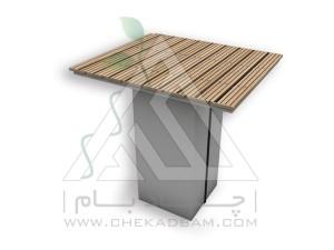 میز محوطه چوب پلاست تیپ 1