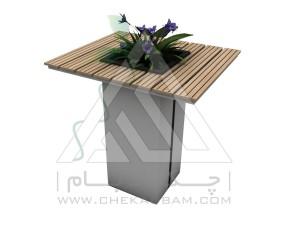 میز محوطه فلاورباکس دار چوب پلاست