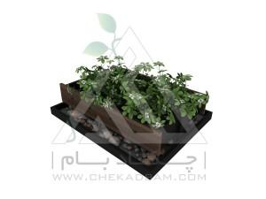 باغچه طبقاتی یک طبقه کاشت سبزیجات