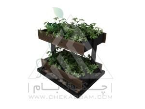 باغچه طبقاتی دو طبقه کاشت سبزیجات