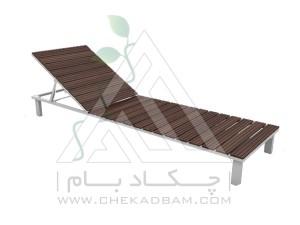 تخت آفتابگیری چوب پلاست
