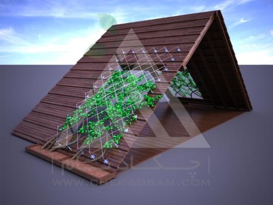 آلاچیق مدرن چوب پلاست طرح هشت بهشت تیپ 2
