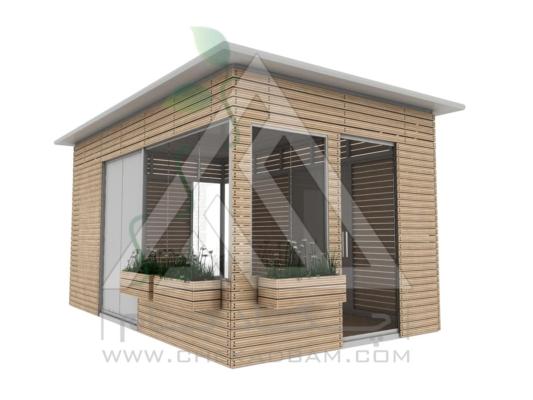 کانکس مدرن چوب پلاست