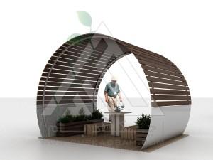 آلاچیق مدرن چوب پلاست طرح ماهور