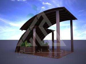 آلاچیق مدرن چوب پلاست طرح پنجره آسمان 1395