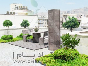روف گاردن در تهران شهرک غرب green roof garden in tehran shahrak gharb