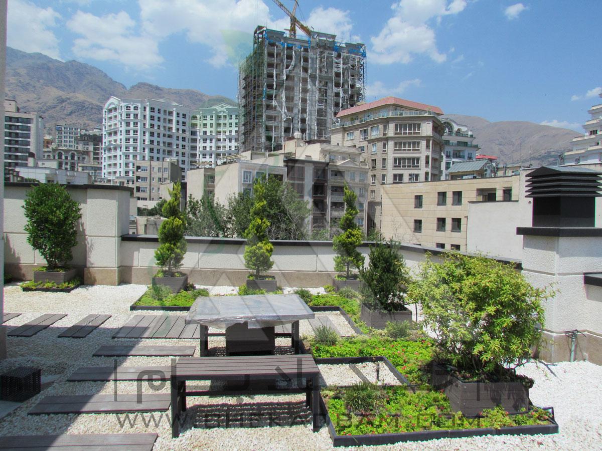 بام سبز فرمانیه green roof garden چکاد بام