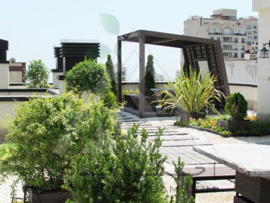 روف گاردن در تهران فرمانیه green roof garden in tehran farmaniyeh