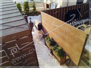 پوشش تاسیسات روی پشت بام پروژه روف گاردن قلندری تهران