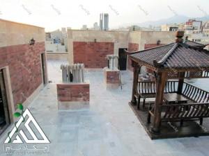 روف گاردن تهران قیطریه طراحی فضای سبز پشت بام چکاد