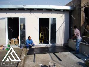 اجرای پروژه روف گاردن بر روی پشت بام شرکت در تهران هفت تیر