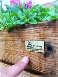 فلاورباکس های چوبی ترمووود چکادبام مناسب برای فضای باز پروژه روف گاردن