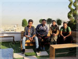 اکیپ اجرای چکادبام پروژه روف گاردن شرکت آرین سعید جردن تهران
