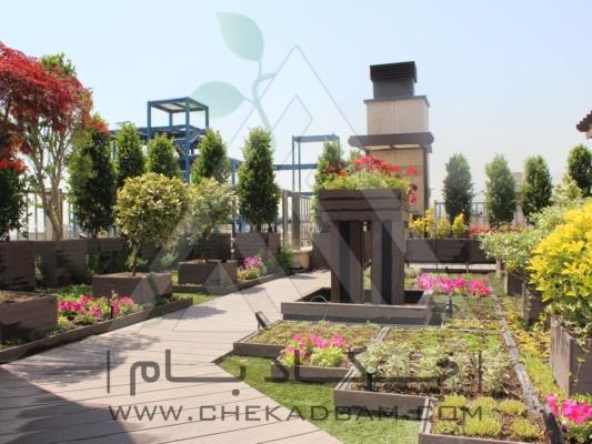 روف گاردن در تهران کامرانیه green roof garden in tehran kamraniyeh