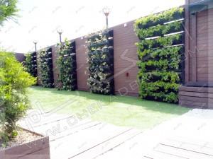 دیوار سبز مدولار چکادبام در پروژه رستوران بام کارگر تهران