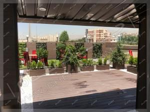 فلاورباکس و گلدان و گل و درخت و درختچه مخصوص پشت بام -- روف گاردن امیر آباد تهران