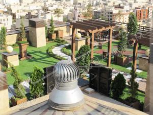 نمای کلی از پروژه روف گاردن تهران قیطریه