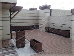 روف گاردن کرمان فضای سبز روی پشت بام در ایران