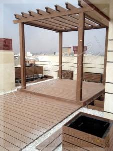 پرگولای چوبی در کرمان