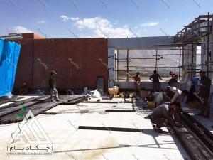 مراحل اجرای روف گاردن بام سبز آلاچیق چوبی فلزی مدرن آتریوم فلاورباکس طراحی اجرا قیمت  نانو الوند سیمین دشت کرج