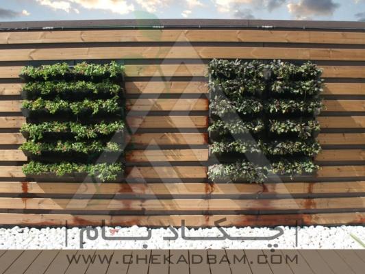 دیوار ترمووود دیوار سبز چوب پلاستیک دیورار سبز مدولار