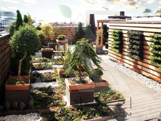 قیمت نمونه طراحی روف گاردن ایرانی گیاهان سبز بام آلاچیق آبنما پرگولا