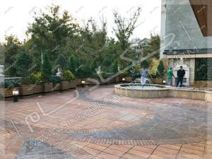 نمای پشت بام سبز پروژه بازطراحی روف گاردن زعفرانیه تهران