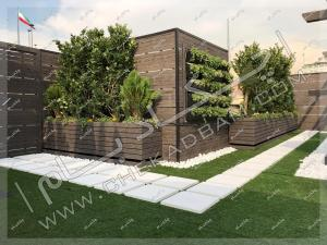 روف گاردن سعادت آباد دیوار سبز فلاورباکس و گل و گیاه و درختچه روی پشت بام