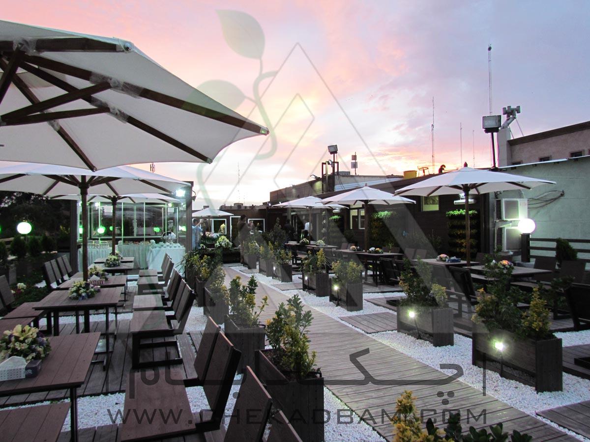 رستوران بام سبز کلینیک پوست تهران