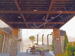 نمای داخلی آتریوم بر روی پشت بام سبز دیباجی تهران