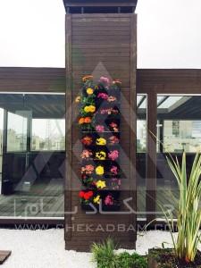 روف گاردن-بام سبز-آتریوم-چوب پلاست-ترموود-وود پلاست- گل-درختچه-فلاورباکس-شیشه سکوریت-پوشش داکت