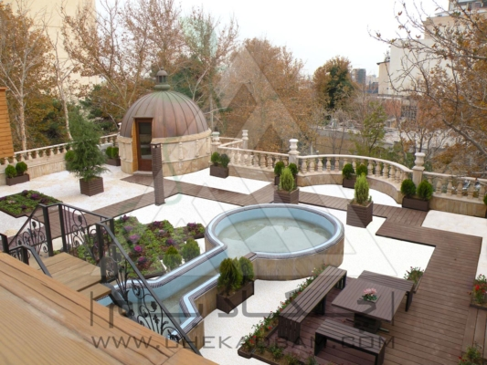 روف گاردن در تهران زعفرانیه green roof garden in tehran zafaraniyeh