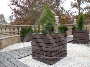 نمای کل-روف گاردن-بام سبز-پرتابل-وود پلاست-چوب پلاست-ترموود-آلاچیق-فلاورباکس-گلدان-درختچه-تری باکس