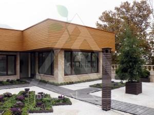 نمای کل-روف گاردن-بام سبز-پرتابل-وود پلاست-چوب پلاست-ترموود-آلاچیق-فلاورباکس-گلدان-درختچه