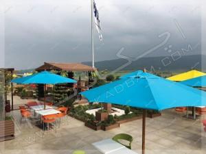 چتر محوطه تراس سبز مجتمع تجاری اکسین شمال آمل