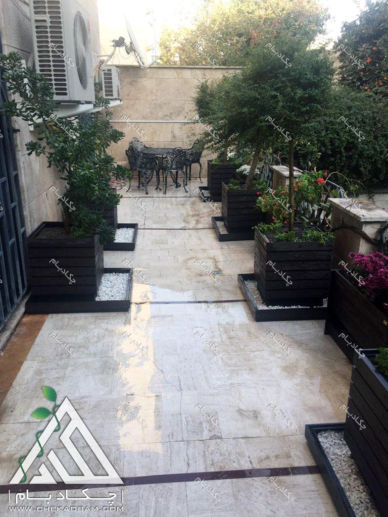 تراس سبز طراحی بالکن چیذر تهران green terrace balcony chizar tehran